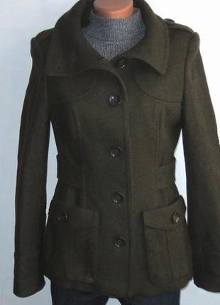 Стильное шерстяное пальто от h&m р: 44-s, m
