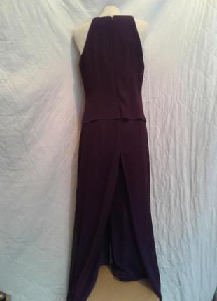 На торжество шифоновый фиолетовый комбинезон- платье, s-m.3 фото