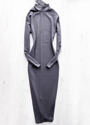 Базова міді сукня шикарного кольору / базовое миди платье гольф  boohoo1