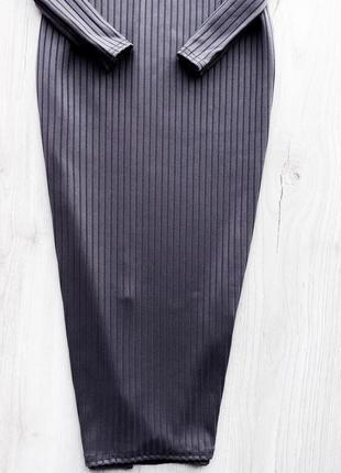 Базова міді сукня шикарного кольору / базовое миди платье гольф  boohoo4