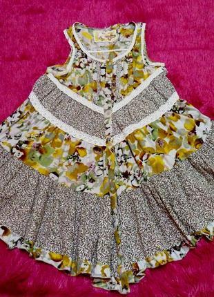 Пышная блузочка с асимметричной длинной. рр 42-44