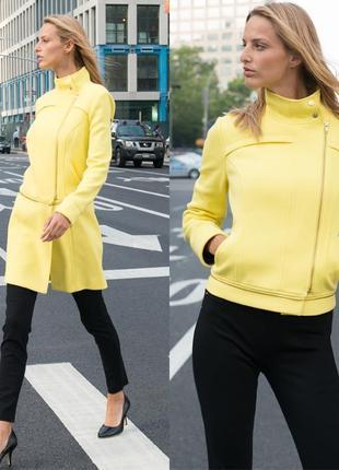 """Эксклюзивное желтое пальто - косуха (трансформер) l (usa)  """"2"""" в """"1"""""""