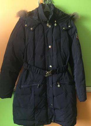 Пуховое пальто u.s. polo оригинал