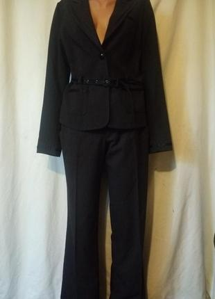 Осенний костюм офисный деловой кюлоты высокая посадка клеш палаццо