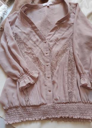Милая блузочка цвет чайной розы