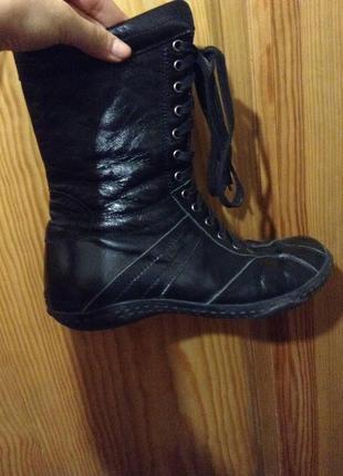 Кожаные сапоги  ботинки grado