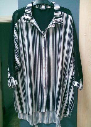 Блуза рубашка оверсайз 14-18 рр