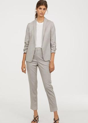 Жакет с лацканами шалькой и нарядные брюки, 34р (xs), полиэстер 65%; вискоза 33%