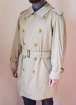 Мужской винтажный плащ тренч пальто burberry с шерстяной подкладкой 42d2c89ab0d