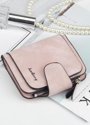 Женский замшевый кошелек baellerry forever mini нежно-розовый