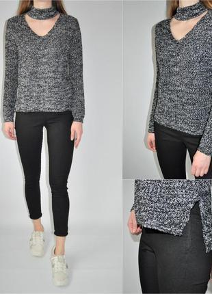 Вязанный свитер с чекером
