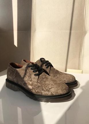 Роскошные туфли дерби, натуральная замша