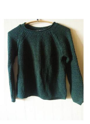 Супер приятный и мягкий изумрудного цвета свитер свитшот