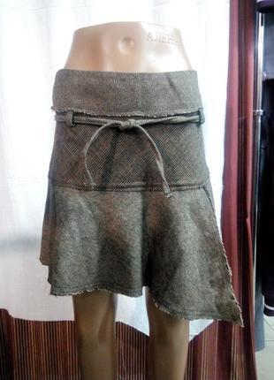 Теплая юбка размер uk 10 наш 44