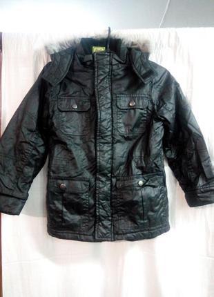 Куртка парка на мальчика 7-8 лет 128 см