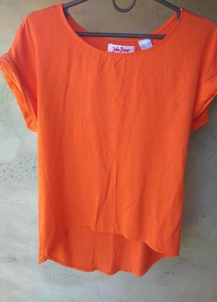 Яркая оранжевая футболка bonprix оверсайз