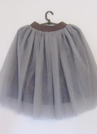 Нежная юбка-пачка дымчато-серого цвета
