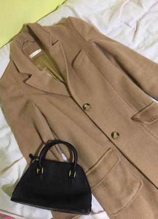 Трендовое длинное пальто, осеннее, цвет кэмел, осень
