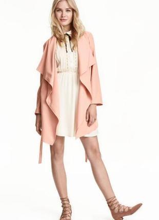 Новое пальто кардиган h&m из смесового лиоцелла