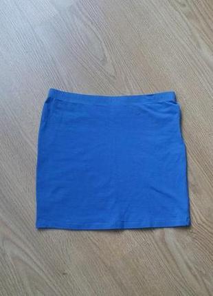 Юбка мини красивого синего цвета