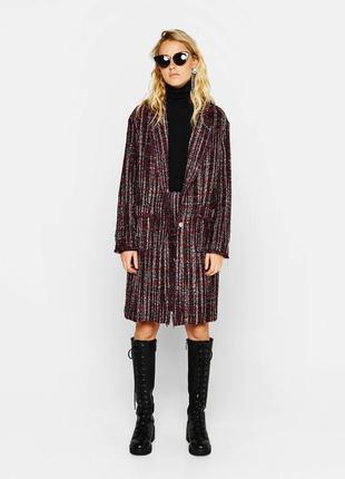Твидовое пальто bershka