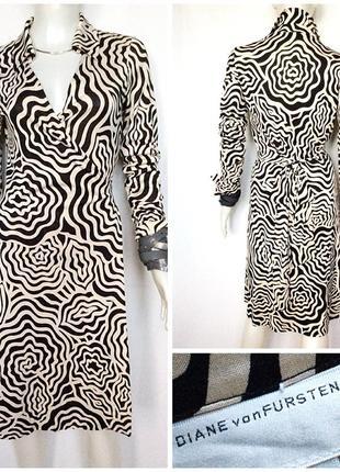 Diane von furstenberg шелковое платье миди назапах