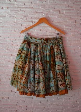 Яркая пышная шелковая юбка thelin