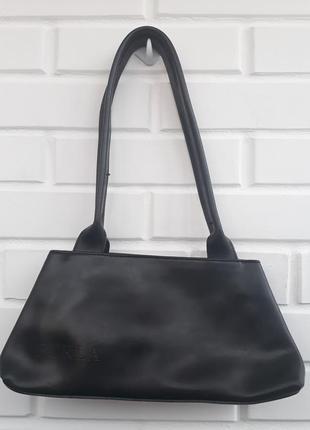 Брендовая черная  кожаная сумка furla клатч оригинал