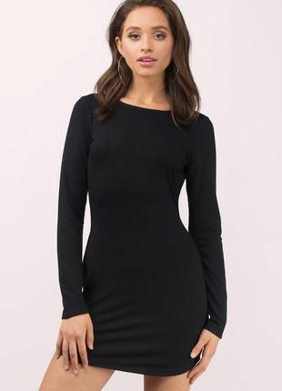Базовое обтягивающее черное платье по фигуре l - xl