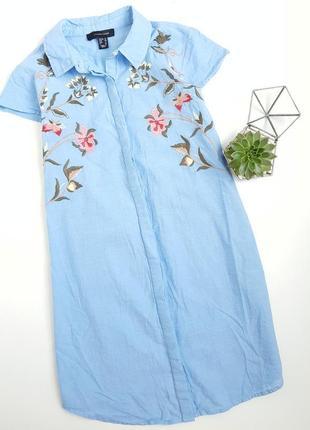 Хлопковое платье рубашка