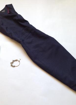 Темно-синее платье футляр миди
