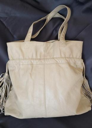 Большая кожаная сумка different