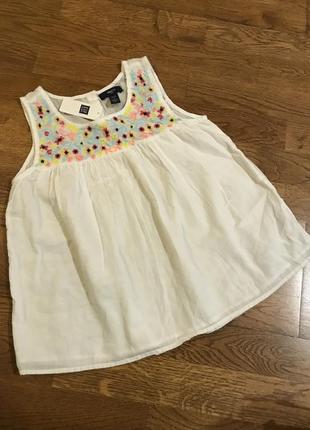 Блузка gap с вышивкой на 10-11 лет