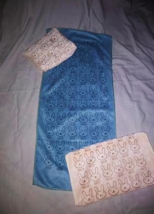 Комплект детских полотенечек. микрофибра 3 шт 35*75 см