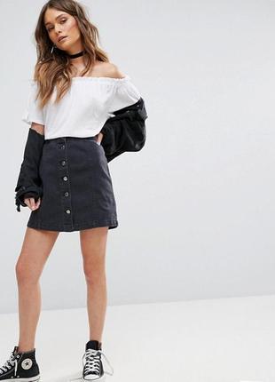 Очень очень очень стильная юбка джынс