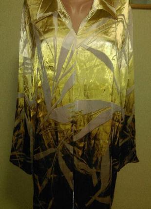 Шикарная туника блуза  в составе шелк с прозрачными вставками