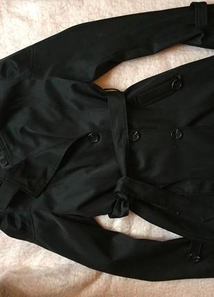 Черное осенне пальто olko
