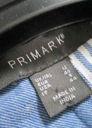 Primark/актуальная хлопковая рубашка в полоску с рукавами на подкотку4 фото
