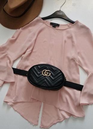 Пудровая блуза с воланами atmosphere
