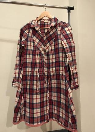 Теплое байковое платье