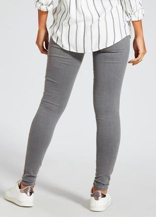 Классные джегинсы серые джинсы средняя посадка fishbone