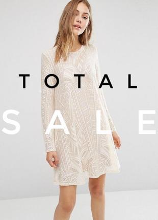 Элитный бренд! кружевное платье с длинными рукавами bcbg max azria a1116