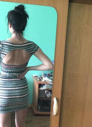 Облегающее платье летнее с вырезом на спине с открытой спиной