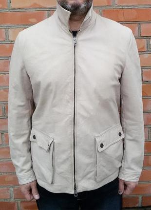 Emporio armani кожаная куртка кожа оригинал (l-xl)