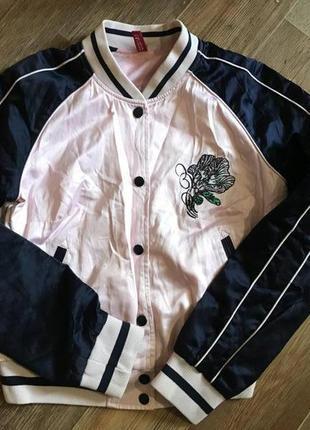 Бомбер куртка олимпийка h&m devided
