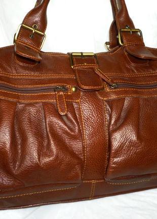 Стильная большущая сумка натуральная кожа tommy&kate
