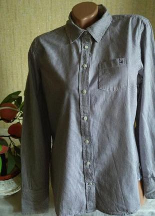 Крутая рубашка в мелкую полоску
