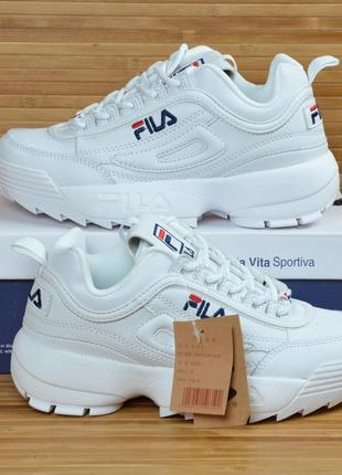 Кроссовки белые модные на высокой подошве 36-40