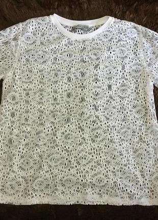 Белая кружевная футболка atmosphere