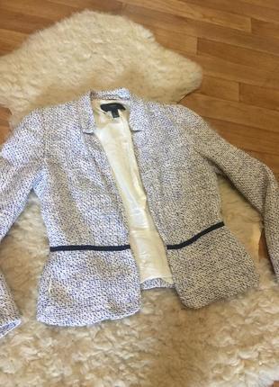 Твидовый пиджак жакет mango